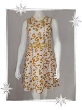 A - Robe  Vintage Chasuble Ecru Jaune Galon Taille M