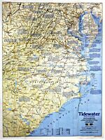 ⫸ 1988-6 Tidewater & Environs, Making of America  National Geographic Map Poster