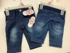 Nwt 2-pair Wonder nation Unisex skinny jeans size 0-3 months
