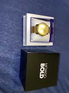 Movado Bold 3600258 Yellow Gold Wrist Watch 44mm for Men