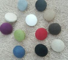 Faux Suede Covered upholstery buttons 19mm  set of 12 assorted