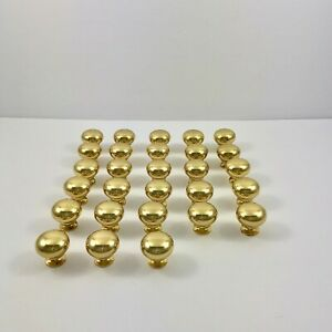 Vintage Solid Brass Drawer Pulls Cabinet Knobs Lot of 28