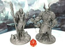 Frost Giant Pair Miniature Mini Figure Fantasy Tabletop Game Dungeons & Dragons