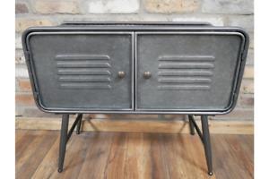 Industrial Metal Two Door Storage Cabinet