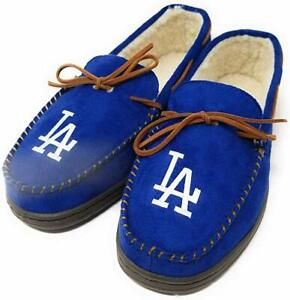 MLB Los Angeles Dodgers Men's Colored Moccasin Hard Slippers-New