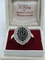 9ct Black & White Diamond Ring