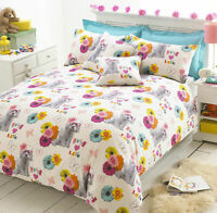 BICHON ANIMAL PRINT DUVET COVER QUILT BEDDING SET WITH PILLOW CASE KING SIZE