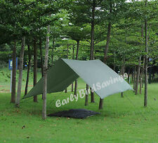 Double Hammock Outdoor Tent Camping Rainfly Tarp with Stuff Sack Hook Ring Rope