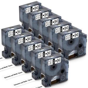 Etikettenband für Dymo D1 45013 S0720530 12mm x 7m LabelManager LabelPOINT LM160