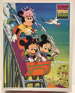 Vintage Jigsaw Puzzle, Disney's Mickey Mouse, Large 100 Piece, Ice Cream