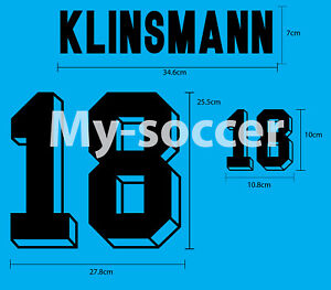Germany Home World Cup 1994 Football Soccer FLOCK VELVET NAME NUMBER PRINT