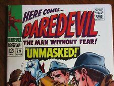 Marvel Daredevil # 29 Unmasked! 1967 High grade!