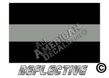 """2 - Thin Grey Line Corrections Officer FLAG Decals 2"""" Reflective Decals Sticker"""