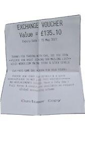 Cex VOUCHER £135