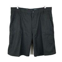 Ripcurl Mens Shorts Size 38 Black Pinstripe With Pockets Excellent Condition