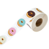 500Pcs Donut Seal Stickers Baking Scrapbooking Packaging Label Craft DIY Decor