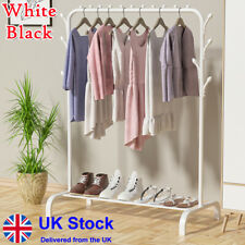 More details for heavy duty clothes rail rack display stand shoe storage shelf hanging garment uk