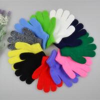 Children Magic Gloves & Mittens Girl Boy Kid Stretchy Knitted Winter Warm - Du
