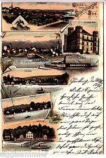 Gruss vom Starnberger See AK 1898 Orte Schiffe Mehrbild Litho Bayern 1505509*