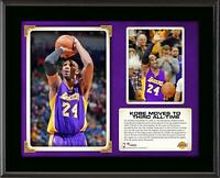 "Kobe Bryant Los Angeles Lakers Third All-Time Scoring 10.5"" x 13"" Plaque"
