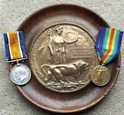 PAIR AND PLAQUE TO ROYAL BERKSHIRE REGIMENT - K.I.A. 1917