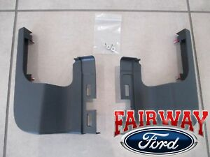 17 thru 21 Super Duty F-250 F-350 OEM Ford Rear Bumper Step Pad End Cap Set PAIR