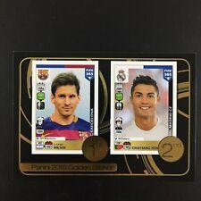 Lionel Messi, Cristiano Ronaldo Sticker Panini 2016 Fifa 365 Golden #8