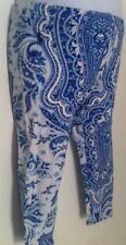 Ralph Lauren Girls Leggings Blue & White Paisley Design Allover Size 4T NWT