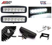 2x White 12V 6 LED DRL Slim Daytime Running Light Car Bike Fog Day Driving Lamp