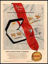 1958 Hickok Sports Jewelry Links Tie Bar Rochester NY Vintage Print Ad