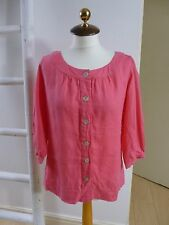BNWT Pure Collection pure linen pink scooped neck shirt/blouse size 8