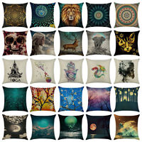 Art Cotton Linen Pillow Case Throw Cushion Cover Home Decor 18x18
