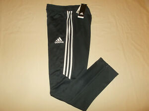 NWT ADIDAS CLIMACOOL DARK GRAY W/WHITE STRIPES ATHLETIC PANTS BOYS LARGE