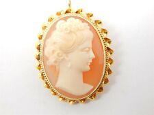 Beautiful 14k Vintage Cameo Pin/Brooch or Pendant 5.2 grams