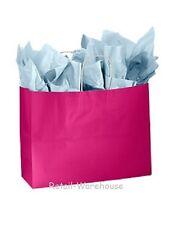 Paper Shopping Bags Gift 25 Glossy Cerise Reddish Pink Merchandise 16 X 6 X 12