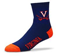 For Bare Feet Virginia Cavaliers Deuce Quarter Socks