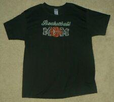 Basketball Mom Rhinestone Black T-Shirt Top ShirtXl X-Large