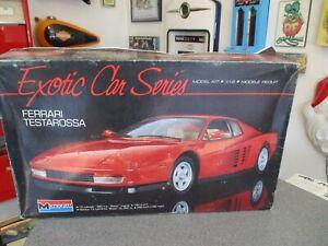 MONOGRAM 1/12 FERRARI TESTAROSSA EXOTIC CAR SERIES UNSTARTED IN BOX
