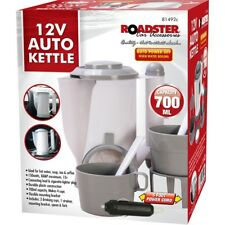 12v Car Travel Kettle Socket Camping Tea Coffee Rapid Boil Thermos Van Caravan