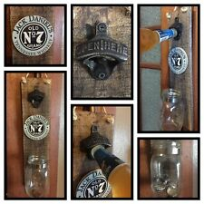 Jack Daniels Wall Mounted RUSTIC BOTTLE OPENER MAN CAVE GARAGE SHED BBQ BEER