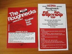 "KISS 1977 Lunch box, Thermos Roughneck, Flip ""N"" Sip, Paperwork,"