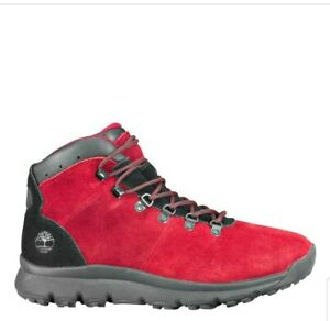 BRAND NEW Timberland A1RBE604 World Hiker Mid Red Men's size 10