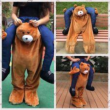 Adults Fancy Dress Carry Me Teddy Bear Mascot Costume Pants Ride On Piggy Back