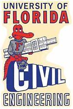 University Of Florida  GATORS Engineering Vintage-Looking  Travel Decal  Sticker