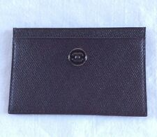 CHANEL BROWN LEATHER CARD HOLDER