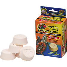 ZOO MED AQUATIC TURTLE BANQUET BLOCK VALUE 5 PACK SUPPLEMENT FREE SHIP THE USA