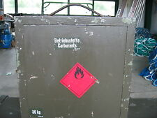 Betriebsstoff Kiste Behälter  CH Armee Benzinkanister Kraftstoffe Petroleum