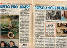 MA131-Clipping-Ritaglio 1987 Rist. La Ninfea -Maradona - Rist Sarago Carnevale