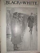 Russo-Japan war Japanese prisoners aboard Russia battleship Gromoboi 1905 print