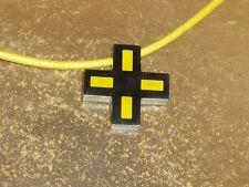 ANHAENGER Anhänger KREUZ Edelstahl mit gelben  Elementen UNISEX